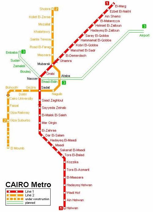 Cairo Metro Network Map