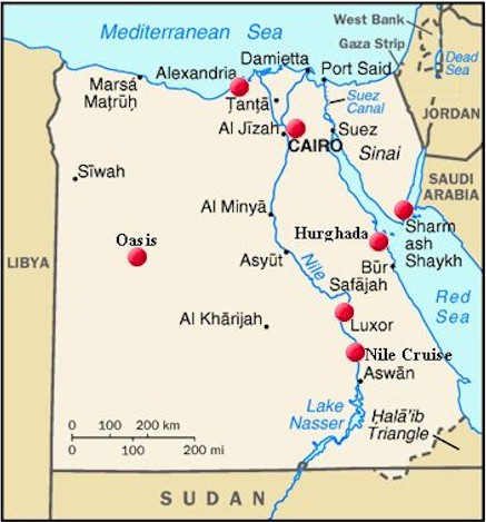 Ahotelscom Online Hotel Reservation EGYPT - Map of egypt hotels